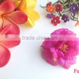 Elegant Silk Fabric Hair Flower Decoration Flower Artificial Cute Peony Hair Flower Clip