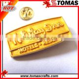 Promotion high quality custom metal gold plating badge lapel pins maker