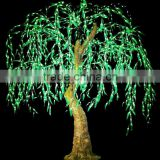 Solar Garden lighted artificial indoor outdoor LED weeping willow christmas tree light