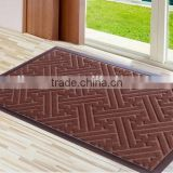 Entrance rubber backing polyester Door Mat new abstract design floor mat