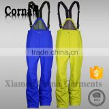 Customized colorful ski pant non deformation fastness elastic belt sport trousers for men