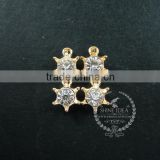 18mm gold plated brass zircon imperial crown pendant charm DIY supplies findings 1800148