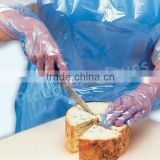 Transparent HDPE/LDPE/TPE disposable gloves for food