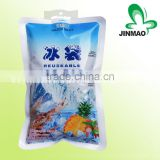 Custom plastic ice bag for packaging ice cube