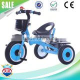 Factory direct sale 0.9mm electrostatic painting iron frame foldable baby tricycle made in China