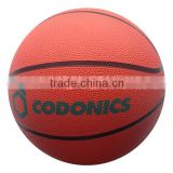 Mini solid color rubber basketball for toddler or kids /promotion rubber basketball