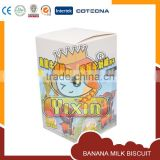Banana milk biscuit box package design