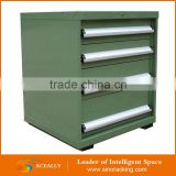 Heavy duty professional metal tool cabinet with tools on wheels