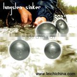 Round fishing tungsten weights