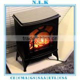 HIGH quality antique electri decorative electric fireplace with CE certificate freestanding led wooden electrical fireplace