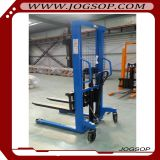 Manual forklift manual pallet stacker,hand pallet truck rubber wheel