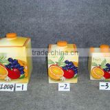 ceramic colorful kitchen canister set