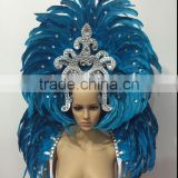 Hot selling women carnival feather headdress for sale