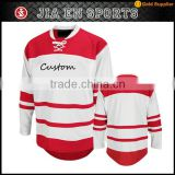 team wear practice quick dry 100% polyester sublimated funny sport clothing plus size tackle twill hockey jersey