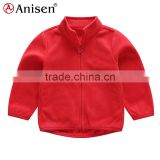 wholesale high quality polar fleece girls custom clothing windproof children's jacket