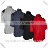 Mens OEM half sleeve and short sleeve waterproof and wind breaker golf windshirt with various colors