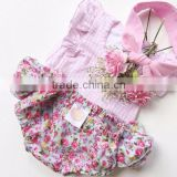 Newborn Gift Set Cake Girl Set Baby Girl Birthday Dresses Outfit Plain Top Matching Bloomer