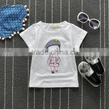 100% bamboo Cotton Cartoon printed 2-6 years water printed o-neck fashionable inexpensive custom logo t-shirts