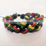 New Handmade Multicolor Surfer Tribal Braided PU Leather Bracelet