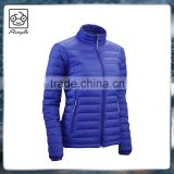 Nylon windbreaker winter down jacket for woman
