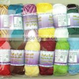 colored cotton balls for hand knitting wholesales