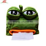 Creative sad frog pumping carton soft plush cartoon tissue box