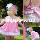 Wholesale christian baby boutique clothes swing dress and ruffled bloomers baby clothing sets