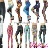 New fashion print black tights sexy girls leggings 2013
