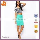 hot sale new arrival mini pencil skirt with knee length,various color summer mini skirt for women