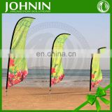 Custom teardrop beach 130gsm knitted cheap Polyester flag