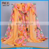 2017 new style one layer orange imitaition silk cheap scarf