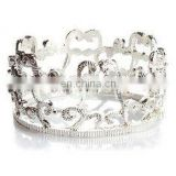 Hollow Crown Design Zinc Alloy Napkin Ring