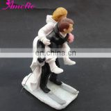 A07406 New Arrival Bride Groom Skating Wedding Cake Toppers