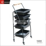 5-level plastic spa beauty salon trolley cart
