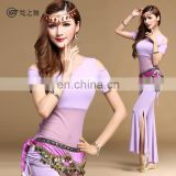 T-5116 Summer modal professional short sleeve sexy training belly dance costume