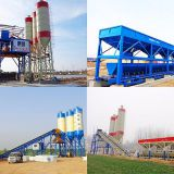 New HZS60 concrete mixing plant