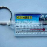 thermometer compass plastic key chain
