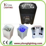 new 6X18W RGABWUV battery powered led lighting,6in1 flat led par,led par light,wedding dj light,battery recharged par