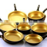 Gold color ceramic coated pans