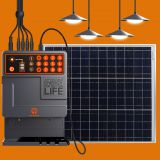 PAYG Home Solar Power Kit with LED Bulbs and Mobile Charger