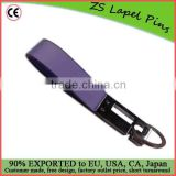 promotional leather strip keychain cheap leather keychain