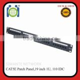 8p8c24 Port 1U Rack Mountable CAT5e Patch Panel - Support T568 A&B wiring & Easy installation