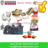Hot Sale Automatic High Speed Carton Erecting Hamburger Box Machine by Water-based adhesive Glue Sealing
