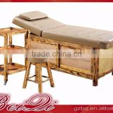 Beiqi 2016 Solid Wood Exquisite Decoration Full Body Massage Bed Strong SPA Massage Table for Sale in Guangzhou