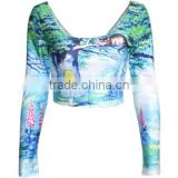 full printing adult sex clothes crop top sexy lady tube tops
