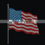 Hotsale heat transfer American flag rhinestone designs with motif for shirts                                                                                                         Supplier's Choice