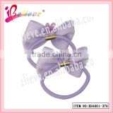 Kids favorite hair accessories lovely rabbit decoration ribbon bow elastic hair rope (XH4001-379)