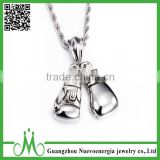 Fashion jewelry 316L stainless steel silver gloves pendant for men                                                                                                         Supplier's Choice