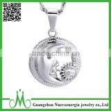 Stainless steel silver sun pendant fashion men lucky pendant wholesale custom costume jewelry