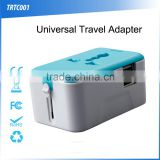 (110126) Universal travel adapter with usb charger,promotional adapter,usb travel adapter